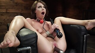 Lovely girl Emma Hix enjoys being fucked away from the machine