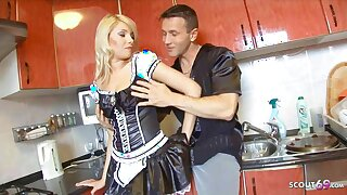 Hot Teen Maid Imprecise Anal with Boss when his Wife is Away