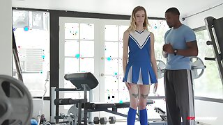 Cheerleader goes black and fucks have a fondness crazy