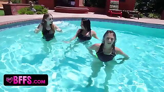 Perfect Assed Wet Teens Realize A Swimming Competition